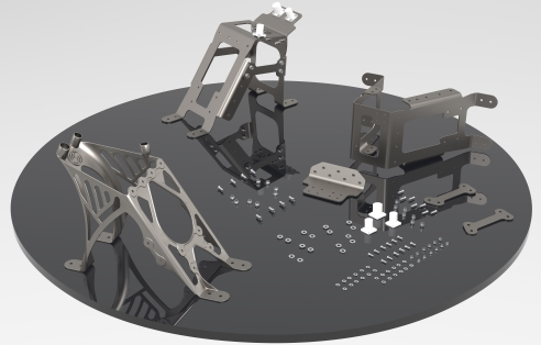 Unified design of the additively manufactured tail bracket eliminates 30 parts down to one. (source: Sogeti)