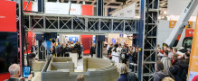Live 3D printed the walls of 4 small houses in 4 days at Bautec – almost