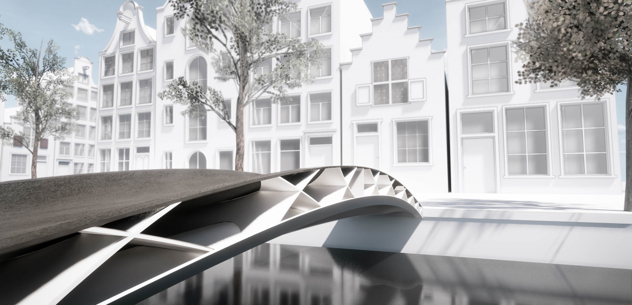 DSM, Royal HaskoningDHV and CEAD design first lightweight 3D printed bridge using FRP