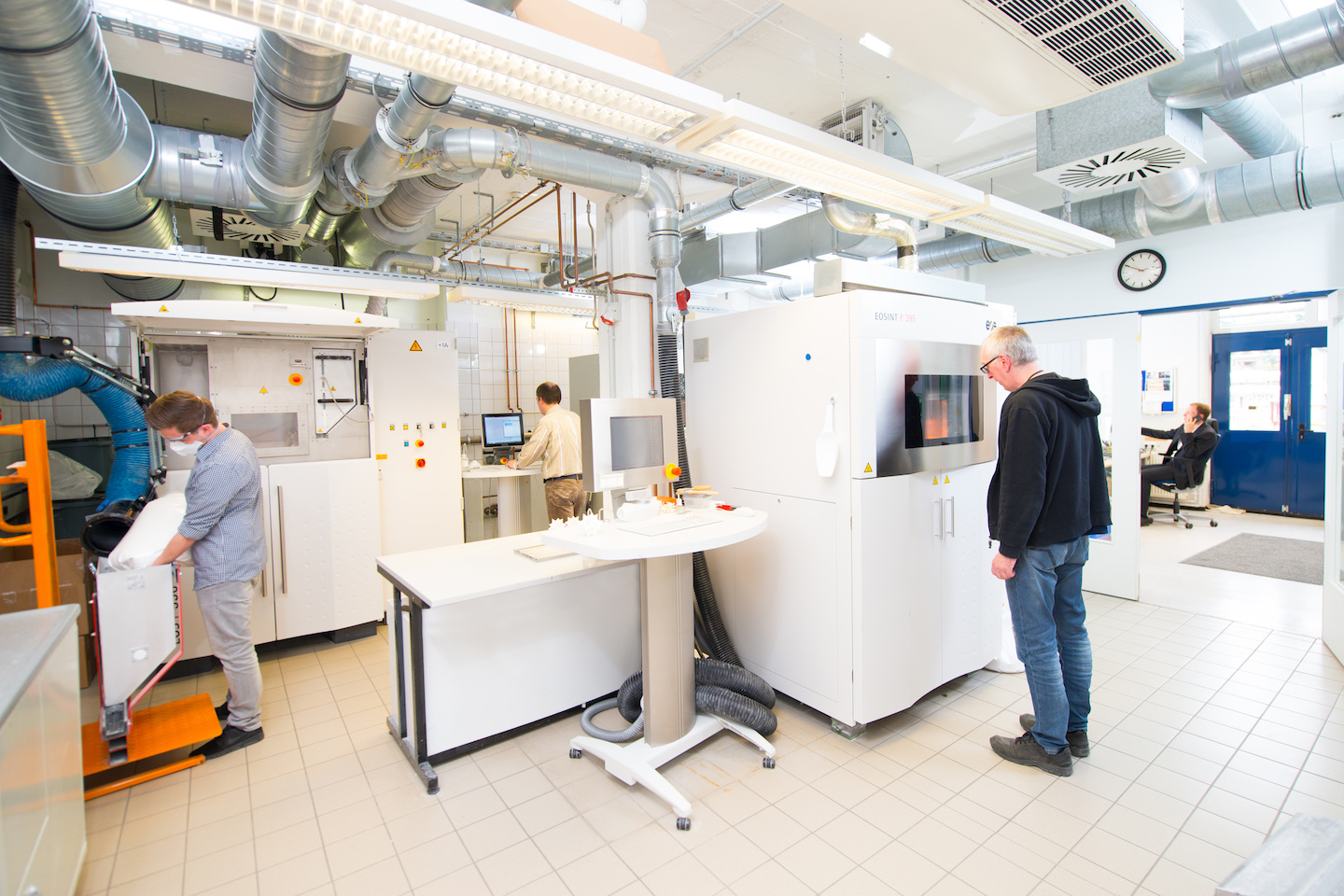 View into Evonik's application technology center for special 3D printing powder materials at Marl Chemical Park (©Evonik).